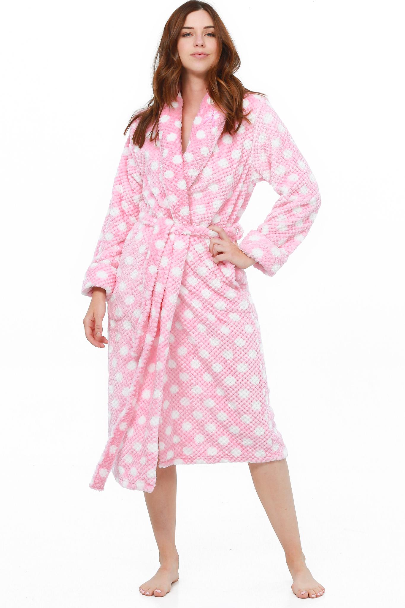 New em /& alfie Women/'s Patterned Plush Robe with Bonus Socks
