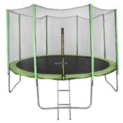 North Gear 14 Foot Trampoline Set with Safety Enclosure and Ladder