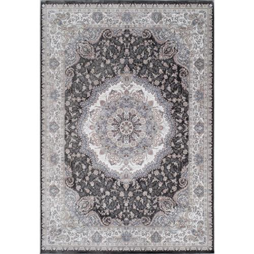 Momeni Antiquity Center Medallion Charcoal Fine Area Rug (9'2' x 12'6') by Overstock