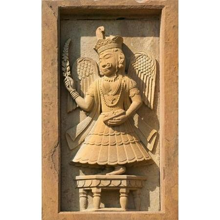 Stone carving in Hotel Prithvi Vilas Palace Jhalawar Rajasthan India Canvas Art - Keren Su  DanitaDelimont (17 x