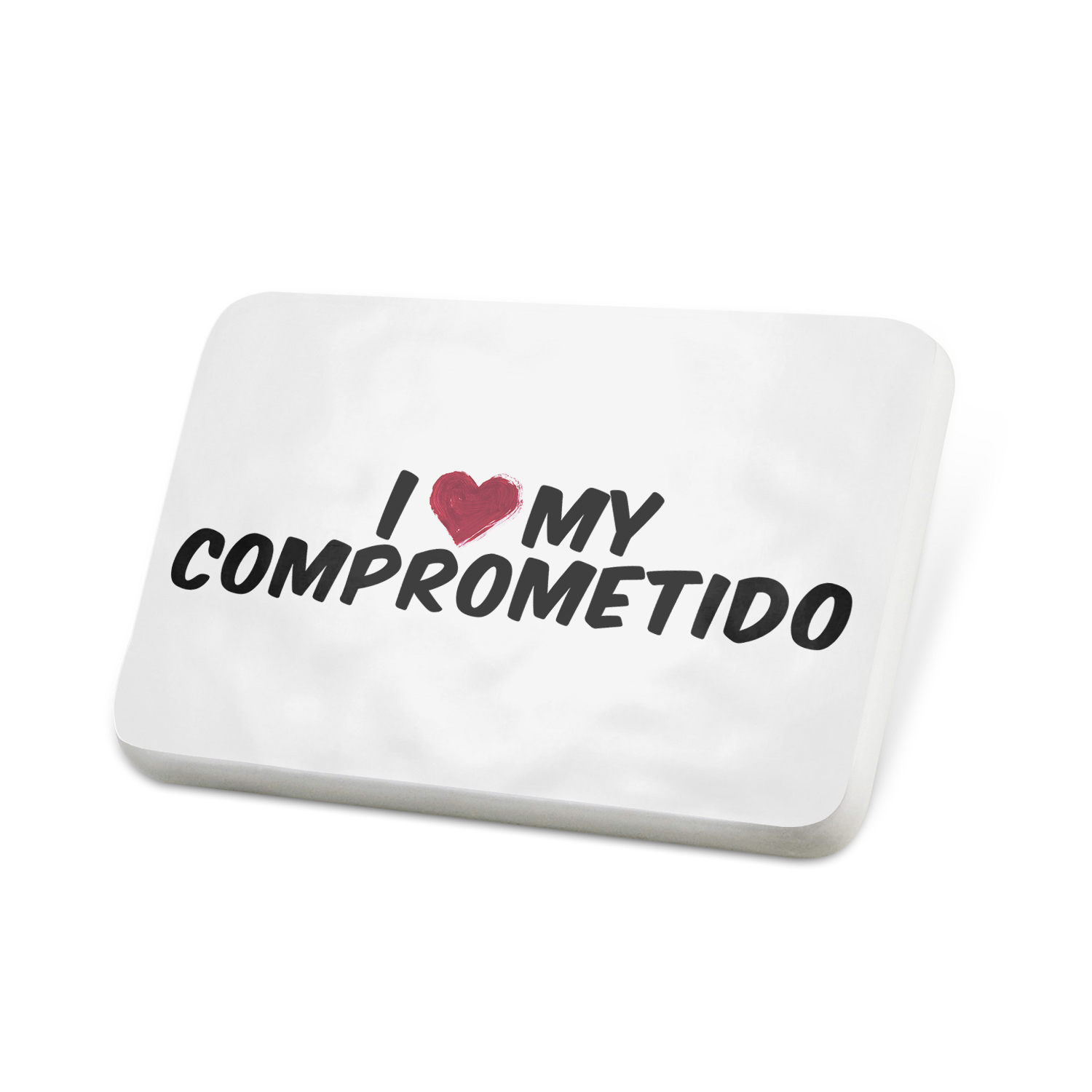 Porcelein Pin I heart love my Comprometido Lapel Badge – NEONBLOND