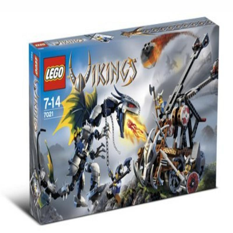 Lego Vikings Set #7021 Double Catapult Versus the Armored...