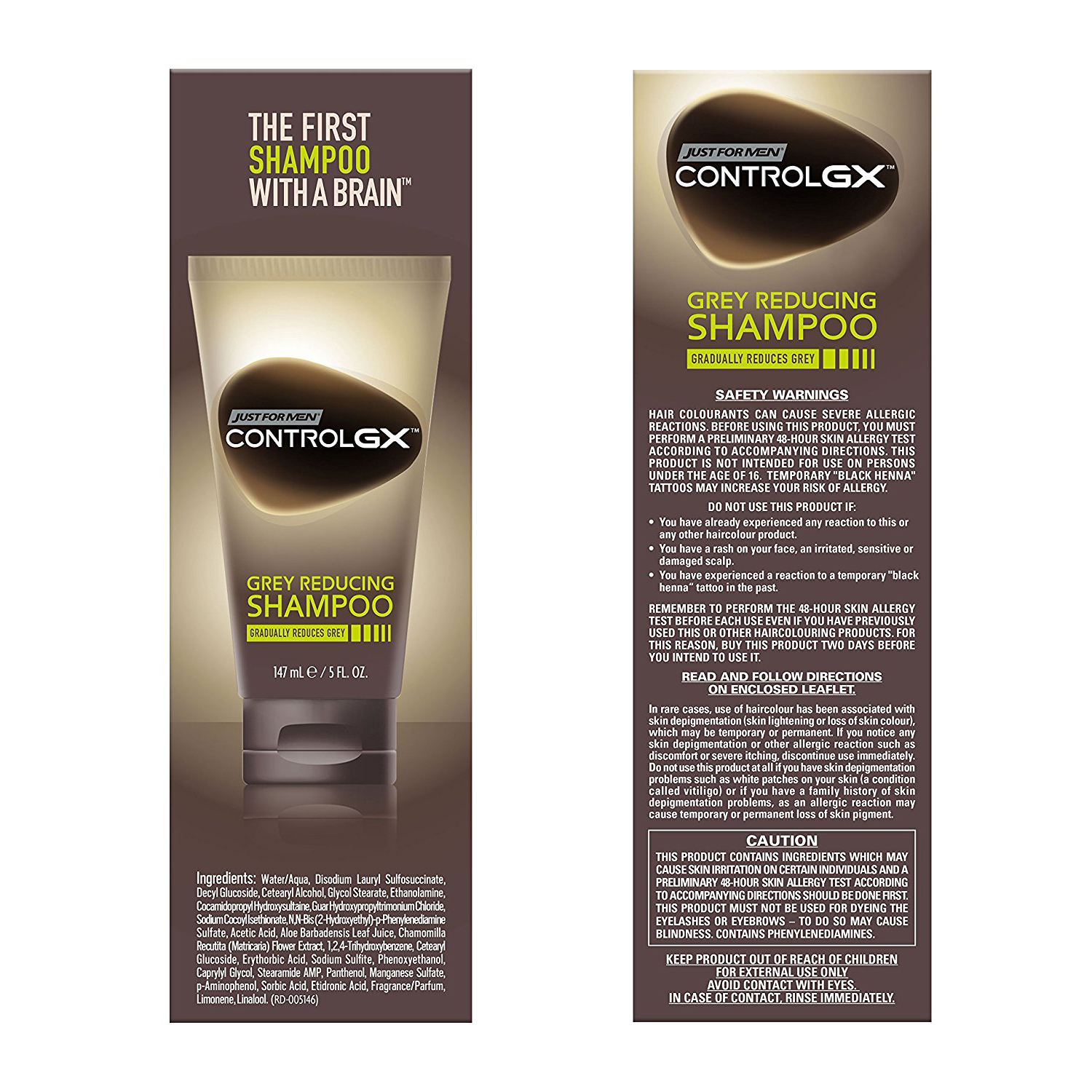 Just For Men Control GX, Grey Reducing Hair Color Shampoo that ...