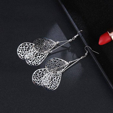 ON SALE - Dangling Mesh Drops Earrings in Gold or Silver Silver