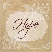 Hope Traditional Abstract Floral Illustration Religious Painting Tan & White Canvas Art by Pied Piper Creative