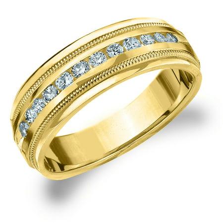 35fa0081ecf Eternity Wedding Bands - 1 2 CTTW Diamond Men s Wedding Band in 14K ...