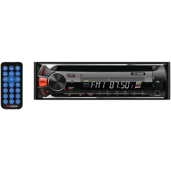 XO VISION XR301BT Single-DIN In-Dash CD AM/FM-MPX2 Receiver with Bluetooth(