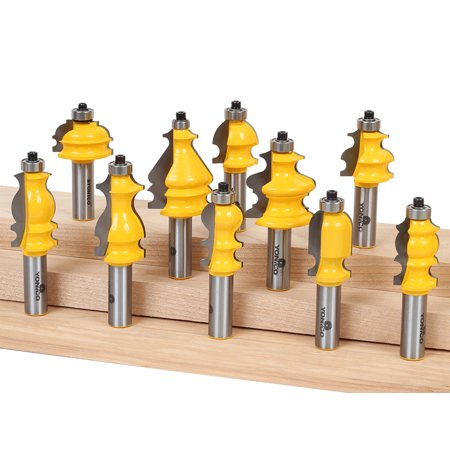 10 Bit Architectural Molding Router Bit Set - 1/2