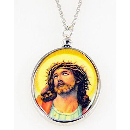 Jesus pendant necklace crown of thorns suffering crucified christ jesus pendant necklace crown of thorns suffering crucified christ aloadofball Images