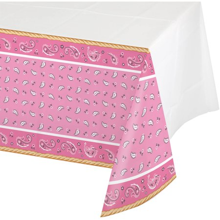 Pink Bandana Cowgirl Tablecover (Bandana Tablecloth)