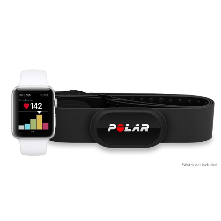 Coded Heart Rate Strap (Polar H10 Heart Rate Monitor, Bluetooth HRM Chest Strap - Medium-XXL )