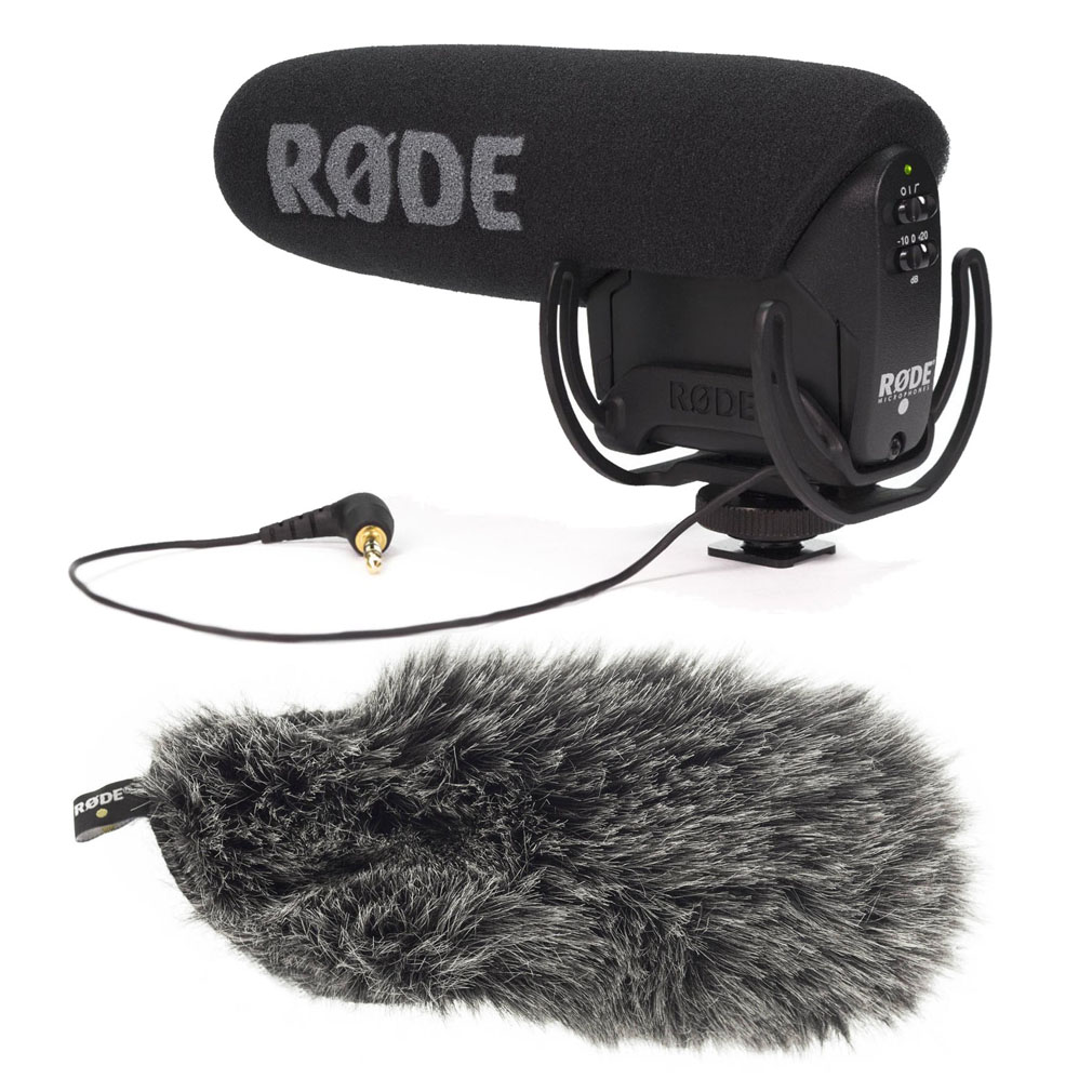 Rode VideoMic Pro Microphone with Rode DDC-VMPR Deadcat Furry Windshield