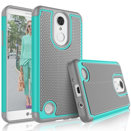 LG Phoenix 3 Case, LG Fortune / LG LV1 / Risio 2 / K4 2017 Case For Girls, Tekcoo [Tmajor] Shock Absorbing [Turquoise] Rubber Silicone Plastic Scratch Resistant Defender Bumper Rugged Hard Cases Cover