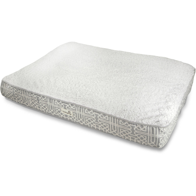 trustypup tendercare therapeutic foam pet bed, medium, lattice