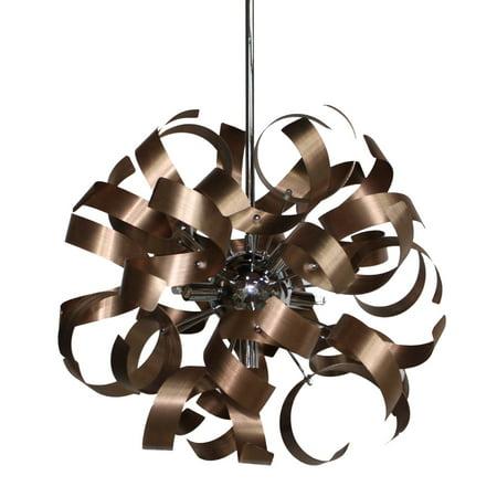 Copper 5 Light (Pendants 5 Light Bulb Fixture With Copper Tone Finish Aluminum G9 18