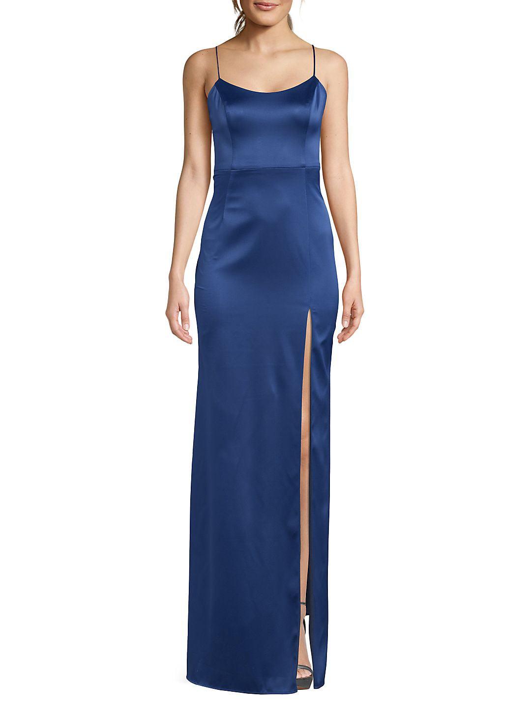 Satin High-Slit Gown