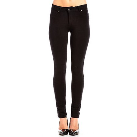 - WOMENS LABIJOU SOFT SOLID STRETCHY FRENCH TERRY BASIC JEGGING SKINNY PANTS 511S