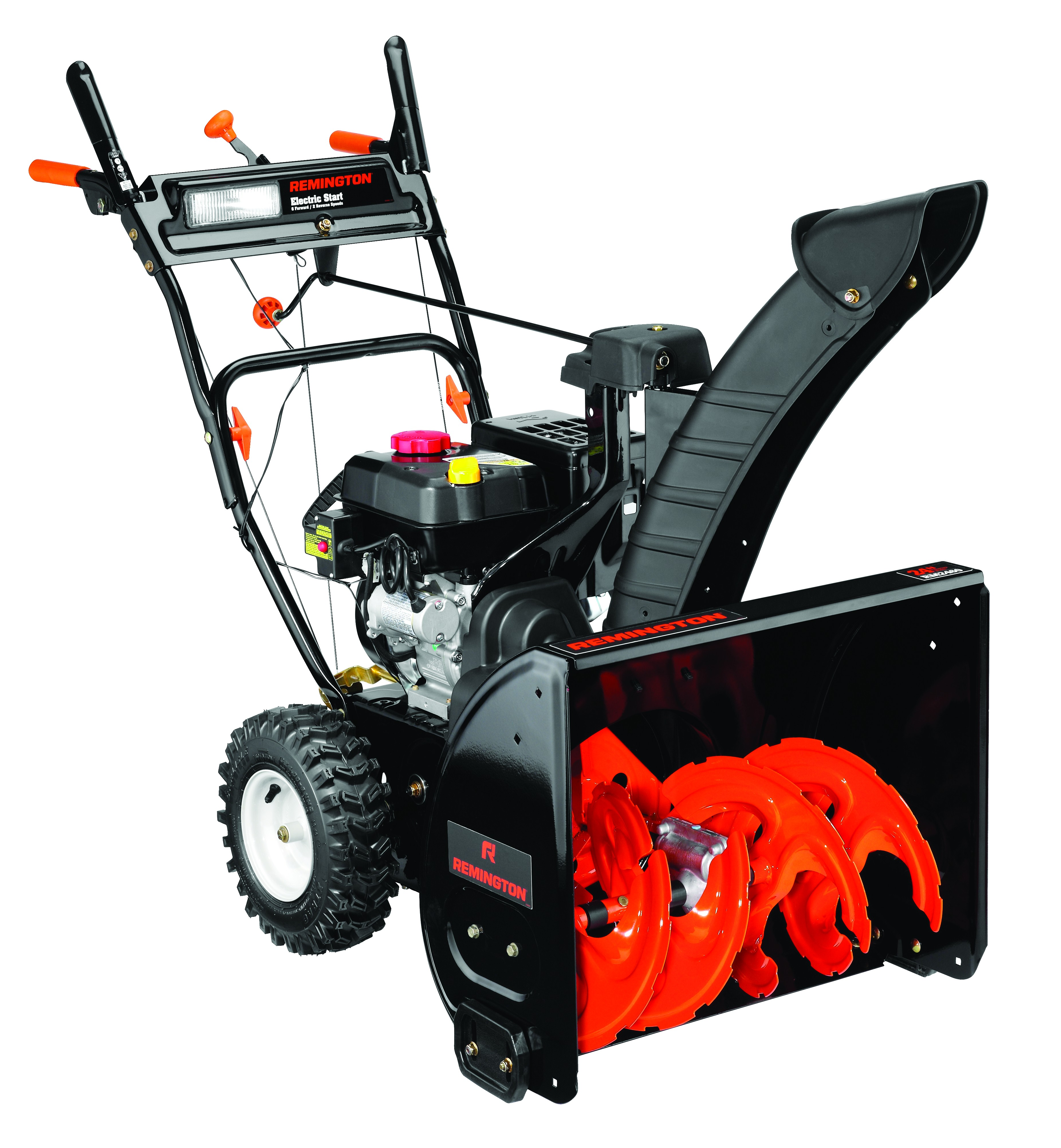 "Remington 24"" 208cc Two-Stage Snow Blower with Electric Start"