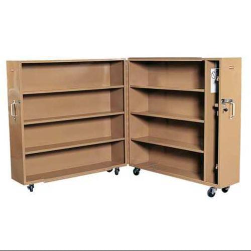 Knaack Jobsite Rolling Clam Shell Cabinet, Steel, Tan, 100