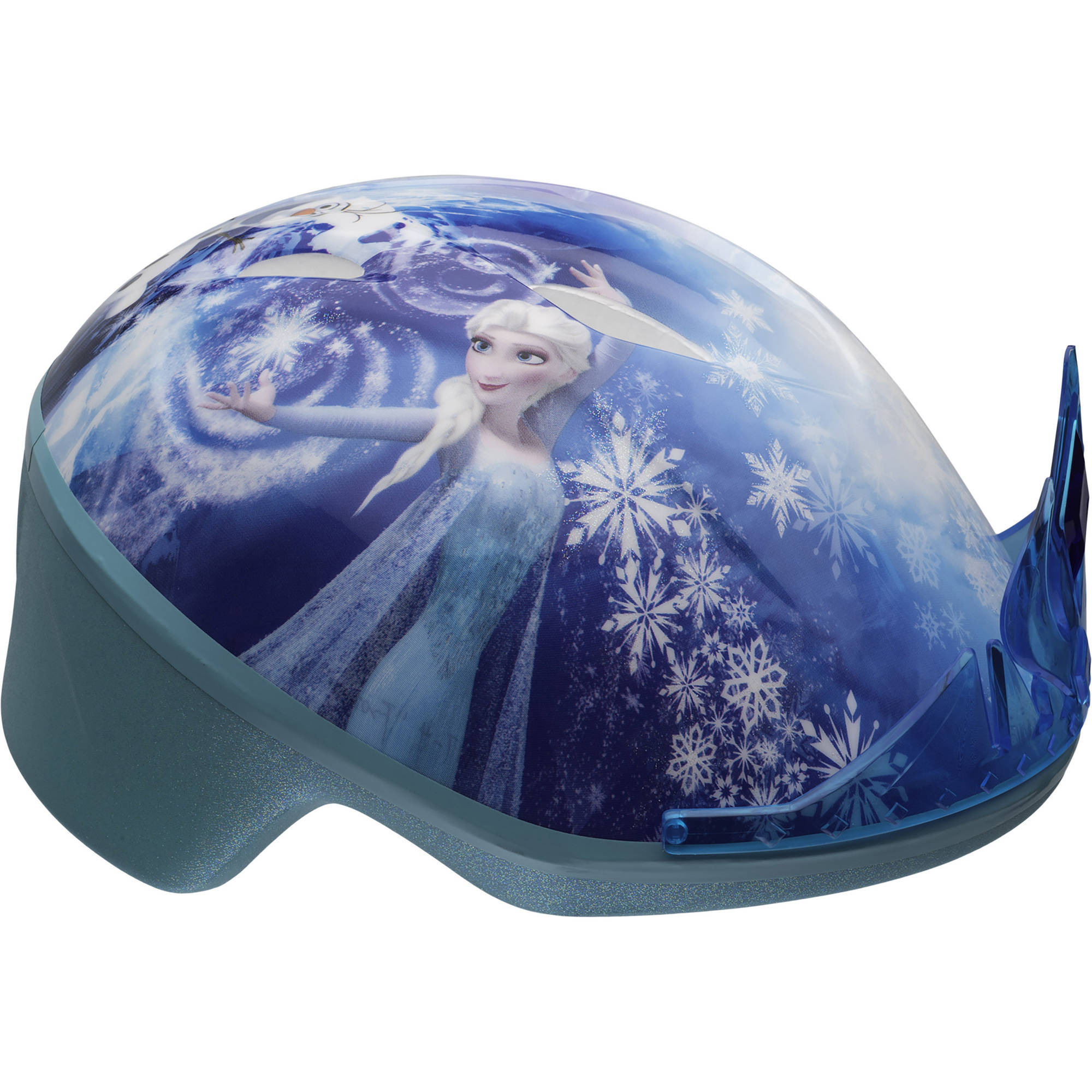 Bell 7068215 Disney Frozen 3D Tiara Toddler Bike Helmet, Blue