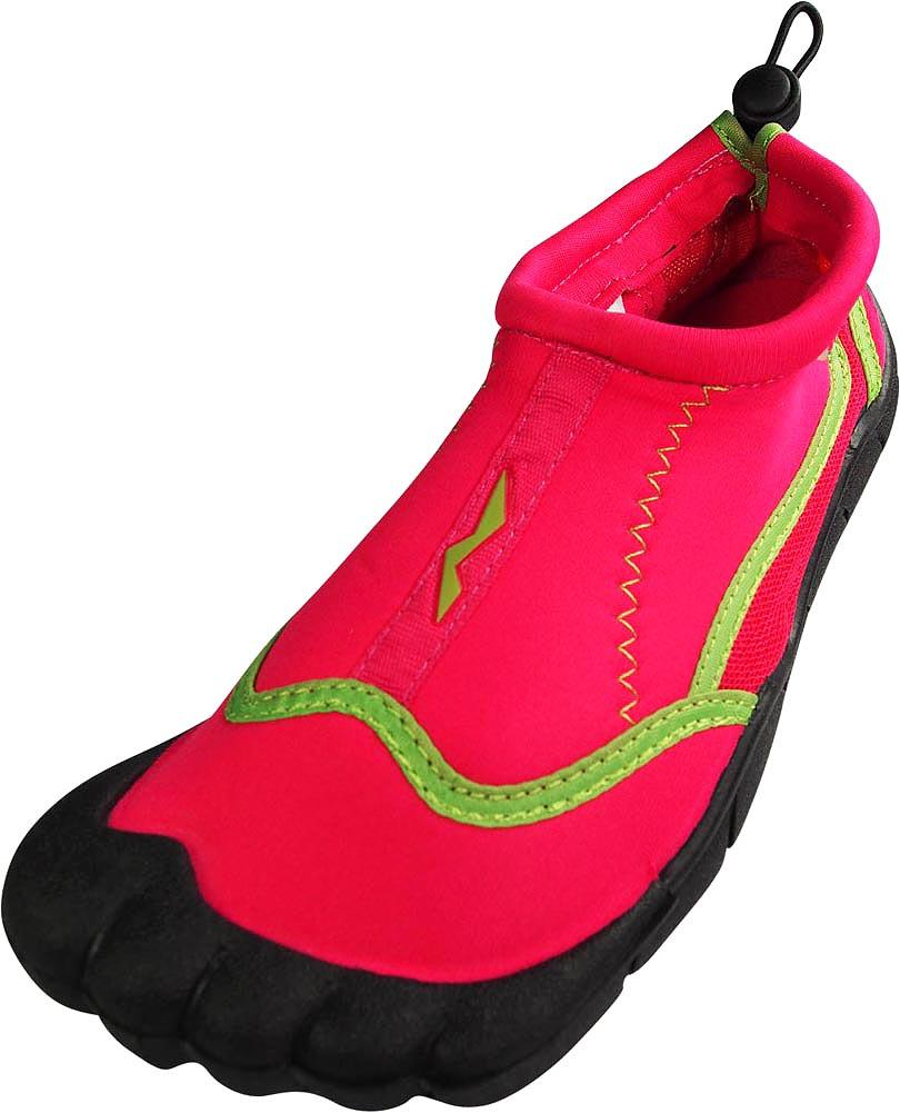 Norty - Women Quick Drying Aqua Shoes Water Sports Shoes for Beach Pool Boating Swim Surf Black/Lime / 5 B(M) US