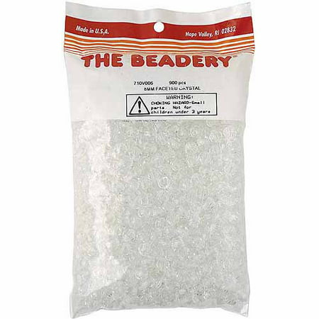 Beadery Faceted Beads, 8mm, 900/pkg, Crystal