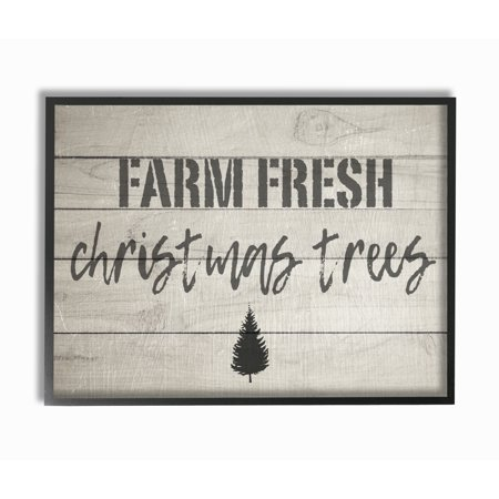 The stupell home decor collection farm fresh christmas trees vintage sign oversized framed - Vintage home decorating collection ...