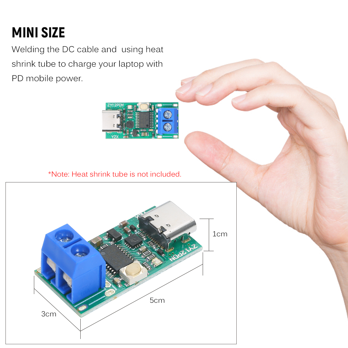 Type-C USB-C PD2.0 3.0 to DC USB Decoy Fast Charge Trigger Polling Detector