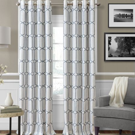 Elrene Home Fashions Kaiden Geometric Blackout Thermal Grommet Single Curtain Panel