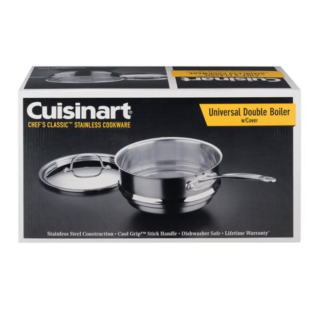 Large Double Boiler - Cuisinart Chef's Classic Universal Double Boiler w/Cover, 1.0 CT