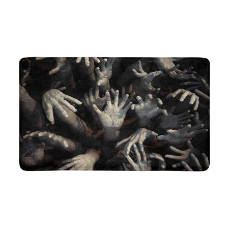MKHERT Halloween Theme Ghost Zombie Bloody Hand Doormat Rug Home Decor Floor Mat Bath Mat 30x18 inch - Level 4 100 Floors Halloween