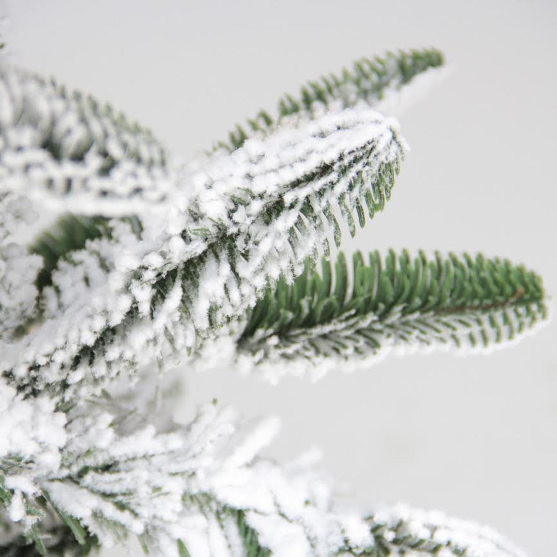 6.5\' Flocked Noble Fir Artificial Christmas Tree - Unlit - Walmart.com