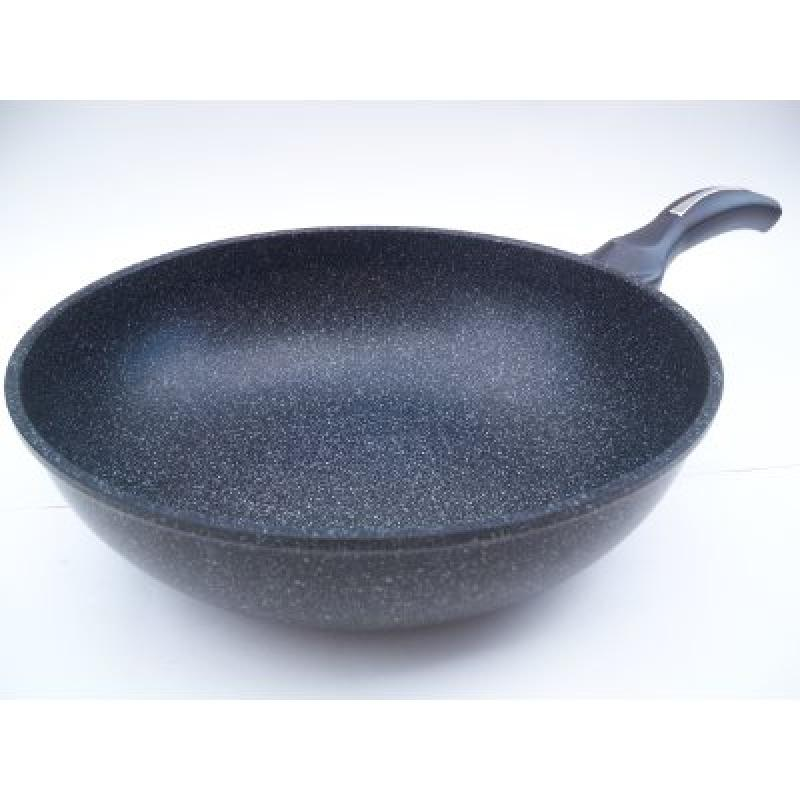Ceramic Marble Coated Cast Aluminium Non Stick Wok 26 cm (10 inches)