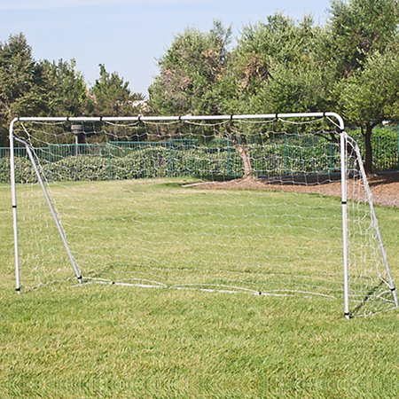 - Best Choice Products 12x6ft Portable Weather-Resistant Steel Frame Soccer Goal Sports Training Tool Accessory for Outdoor, Backyard w/ Net, Straps, and Anchors - White