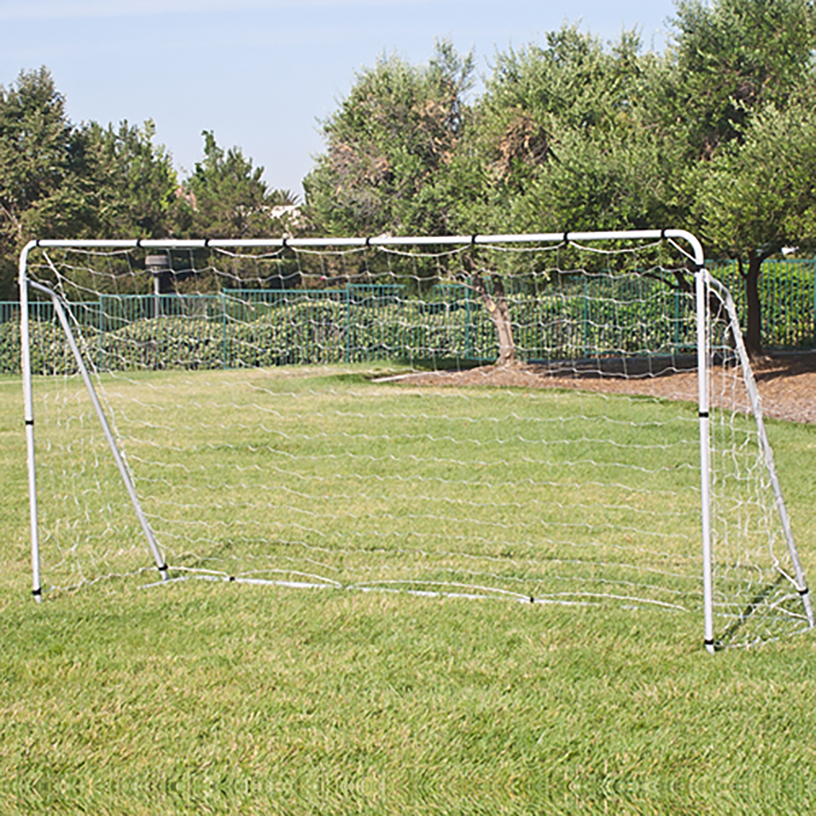 Best Choice Products 12x6ft Portable Weather-Resistant Steel Frame Soccer Goal Sports Training Tool Accessory for Outdoor, Backyard w/ Net, Straps, and Anchors - White