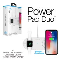 Product Image Naztech Power Pad Duo Qi Wireless Fast Charger White