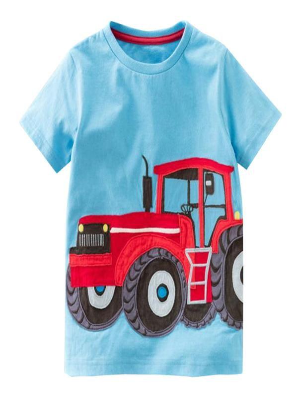 Outtop Toddler Kids Baby Boys Girls Clothes Short Sleeve Cartoon Tops T-Shirt Blous