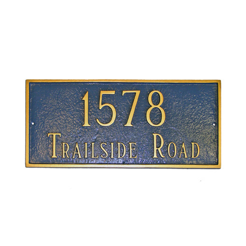 Montague Metal Products Inc. Estate Classic Rectangle Address Plaque