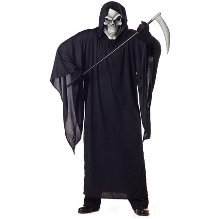 Grim Reaper Adult Men's Plus Size Adult Halloween Costume, XL](Female Grim Reaper Costume)