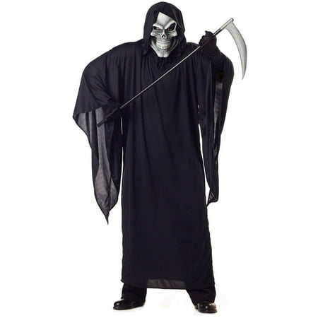 Grim Reaper Adult Men's Plus Size Adult Halloween Costume, XL - Peter Pan Plus Size Halloween Costumes