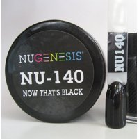 NUGENESIS Nail Color Dip Dipping Powder 1.5oz/43g jar - NU140 Now That's Black