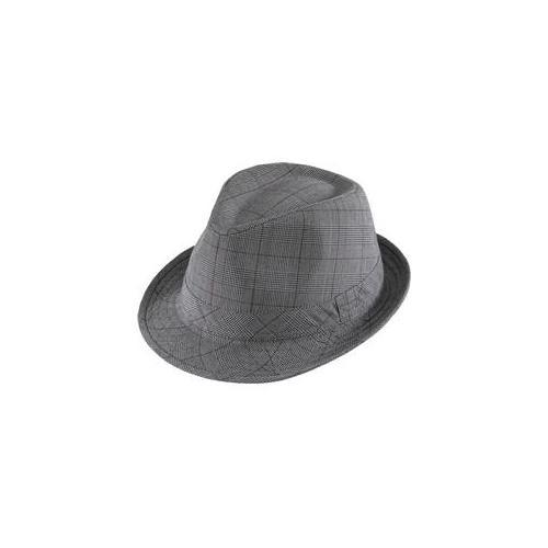 Henschel 6015-27M New Upbeat Gentleman-Plaid Hat, Lightweight, Wrinkle Resistant, 1 inch Self Band, Gray, Medium