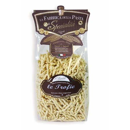 (2 Pack) La Fabbrica Della Pasta Le Trofie, 17.6 oz La Fabbrica Della Pasta Le Trofie is a short pasta whose dough has been twisted to give it a curled shape. The midsection of the trofie pasta noodle is especially thick and chewy.La Fabbrica Della Pasta Le Trofie comes to you from one of the most famous, most authentic, and most trusted pasta makers in Italy.