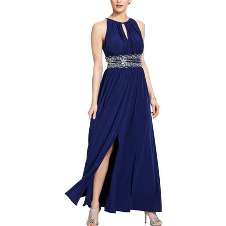 (RM Richards Women's Sleeveless Beaded Designer Evening Gown)
