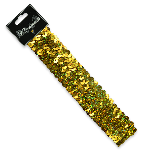 "Expo Int'l 3 Row 1 1/4"" Hologram Stretch Sequin Headband"