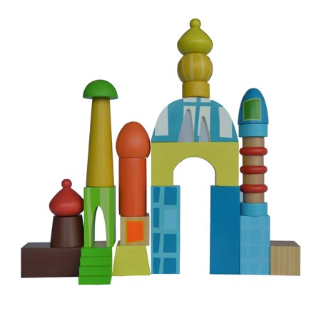 Wooden Towers Building Blocks - image 1 de 2