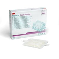 "Tegaderm Foam Adhesive Dressing, 5.625"" X 5.625"", Sterile, 3M 90612 - Box of 10"