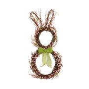 """28"""" Pink Berry Grapevine Easter Bunny Rabbit Artificial Spring Floral Wreath - Unlit"""