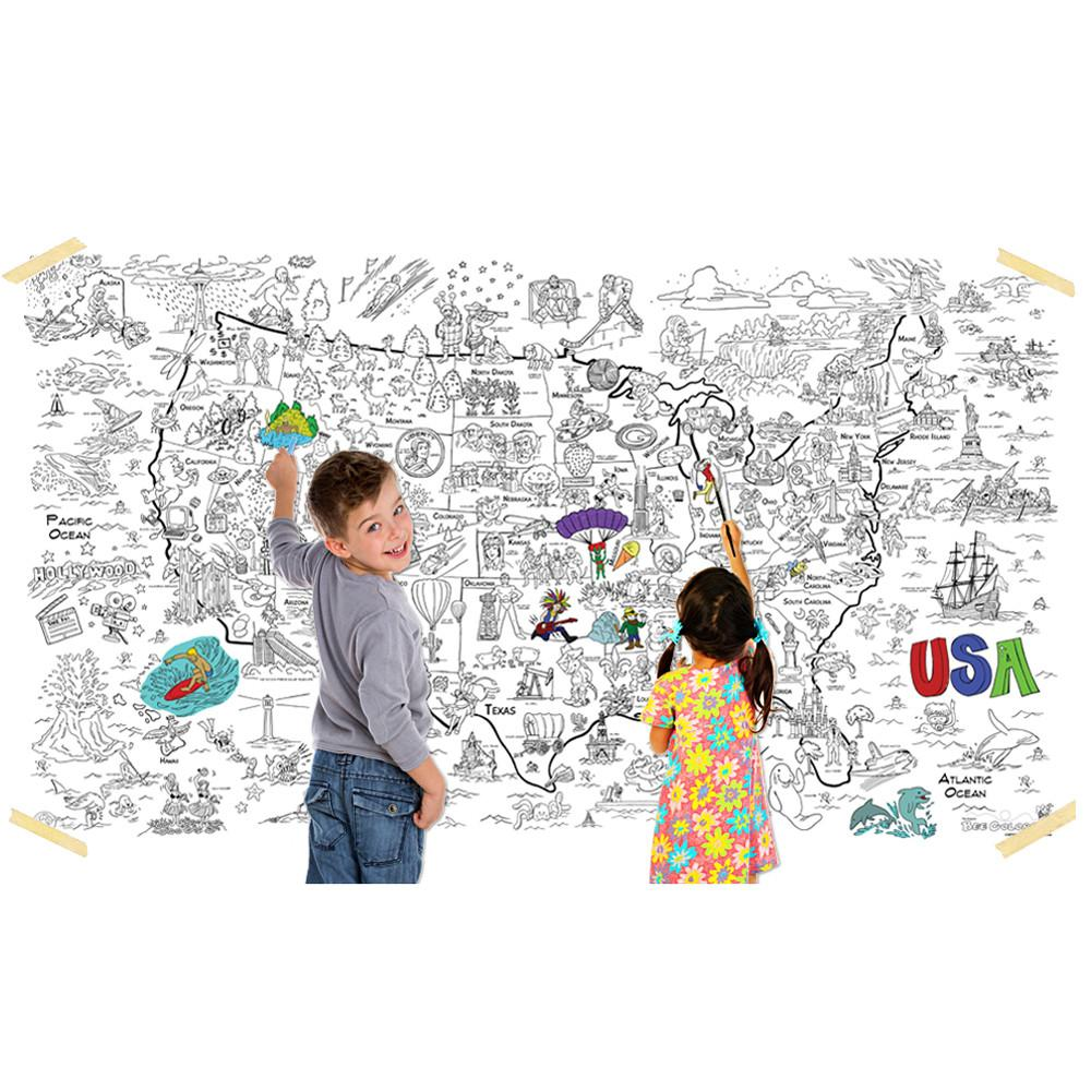 great2bcolorful really big coloring poster 60 x 36 coloring