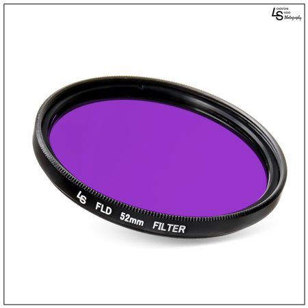 52mm Fluorescent Lighting FLD Low Profile Slim Design Lens Filter for Canon and Nikon DSLR Camera Lenses by Loadstone Studio WMLS1174